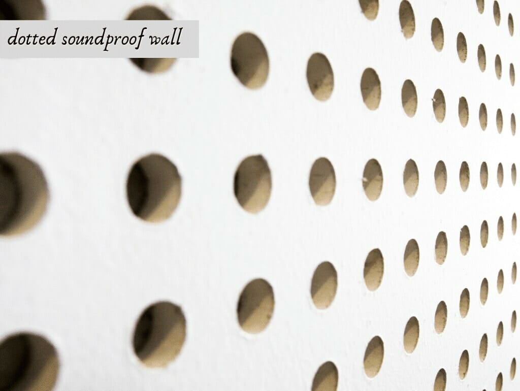 dotted soundproof wall
