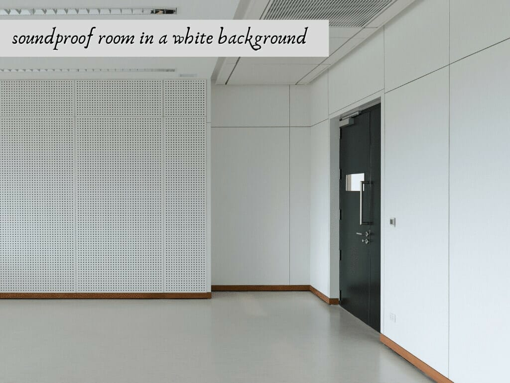 soundproof room in a white background
