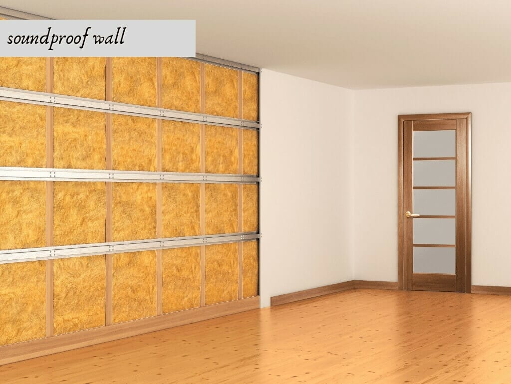 soundproof wall in a room
