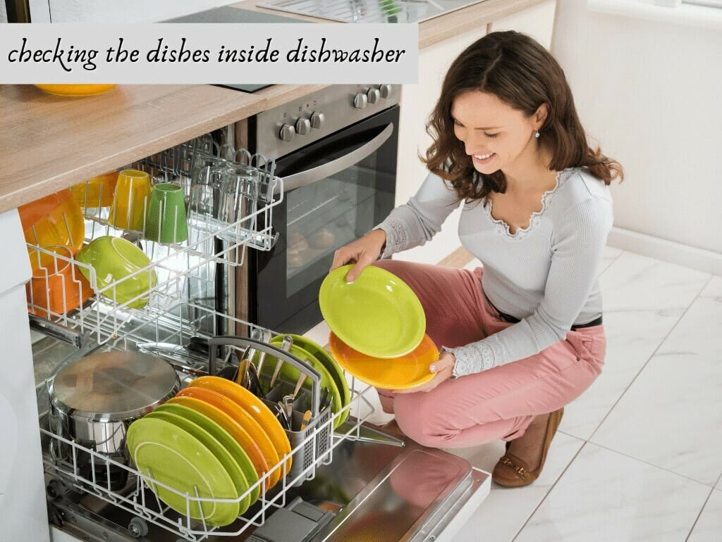 checking the dishes