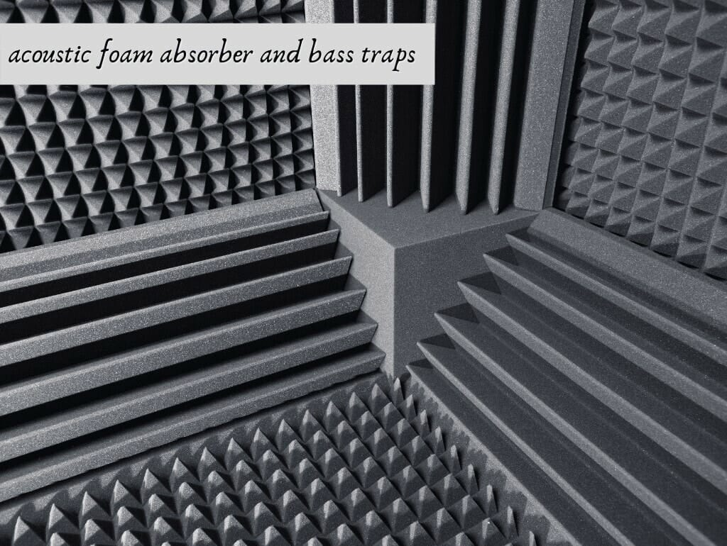acoustic foam absorber and bass traps