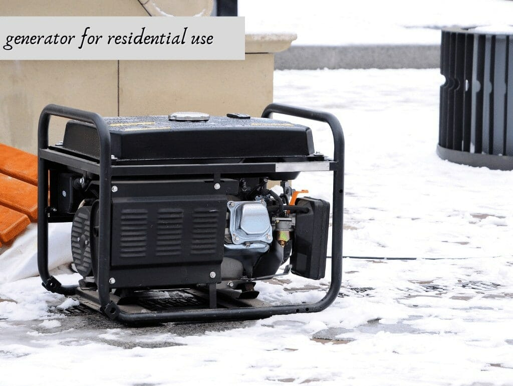generator for residential use