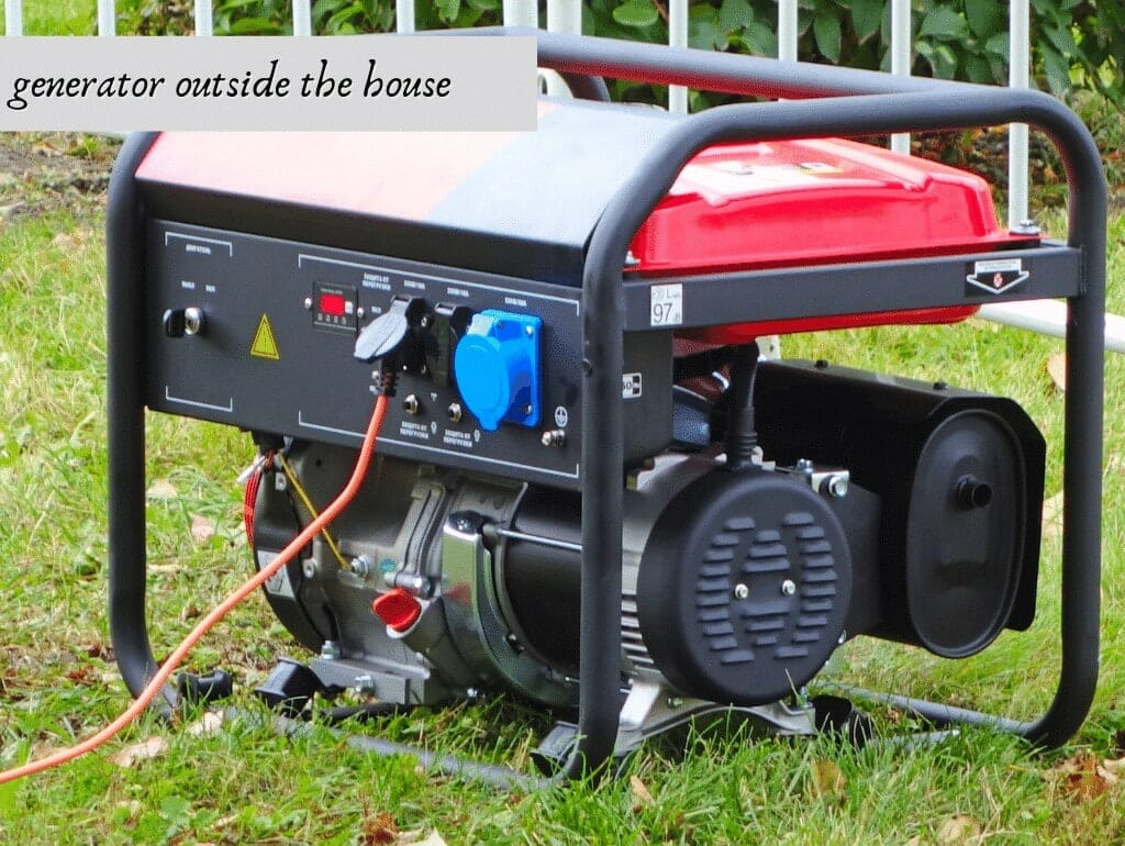 generator outside the house