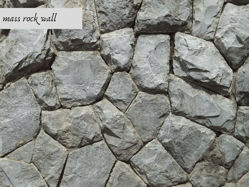 mass rock wall
